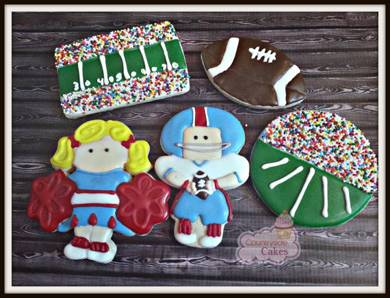 Football Super Bowl Cheerleader decorated by CountrysideCakes