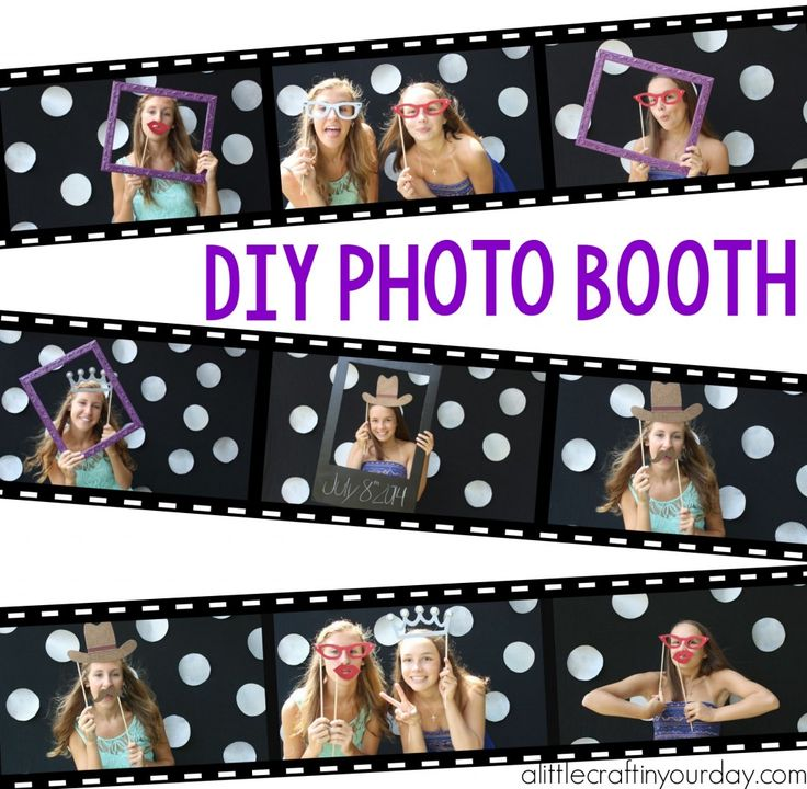 DIY_Photo_Booth by Courtney Chambers Uploads from Tanner Vlogs-Video Tutorial:3:22 min This DIY Photo Booth with props and everything is pretty easy to create with Krylon spray paint and a heck of a lot cheaper!