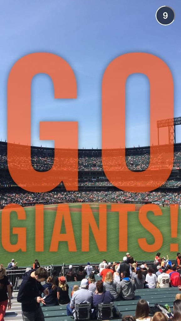 Game Time The 94 best SFGiants Snapchat