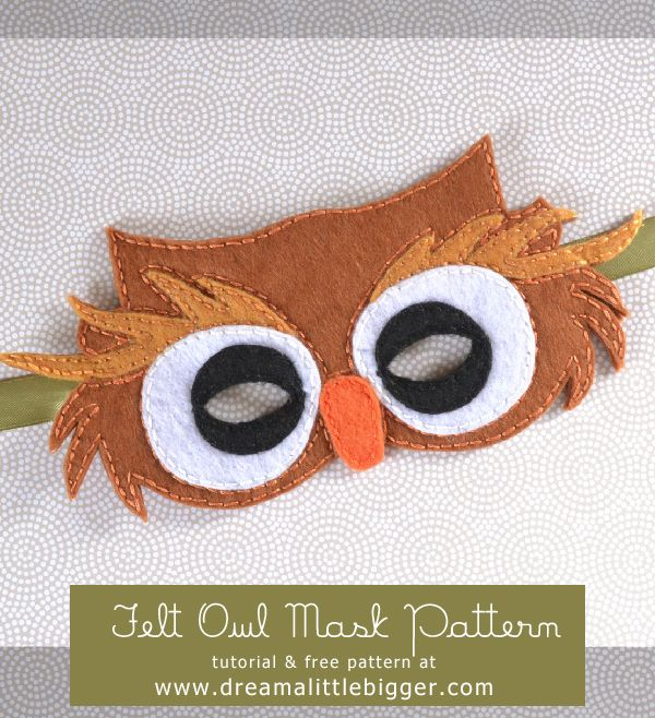 Last-Minute Halloween: Felt Owl Mask #mask #halloween #DIY