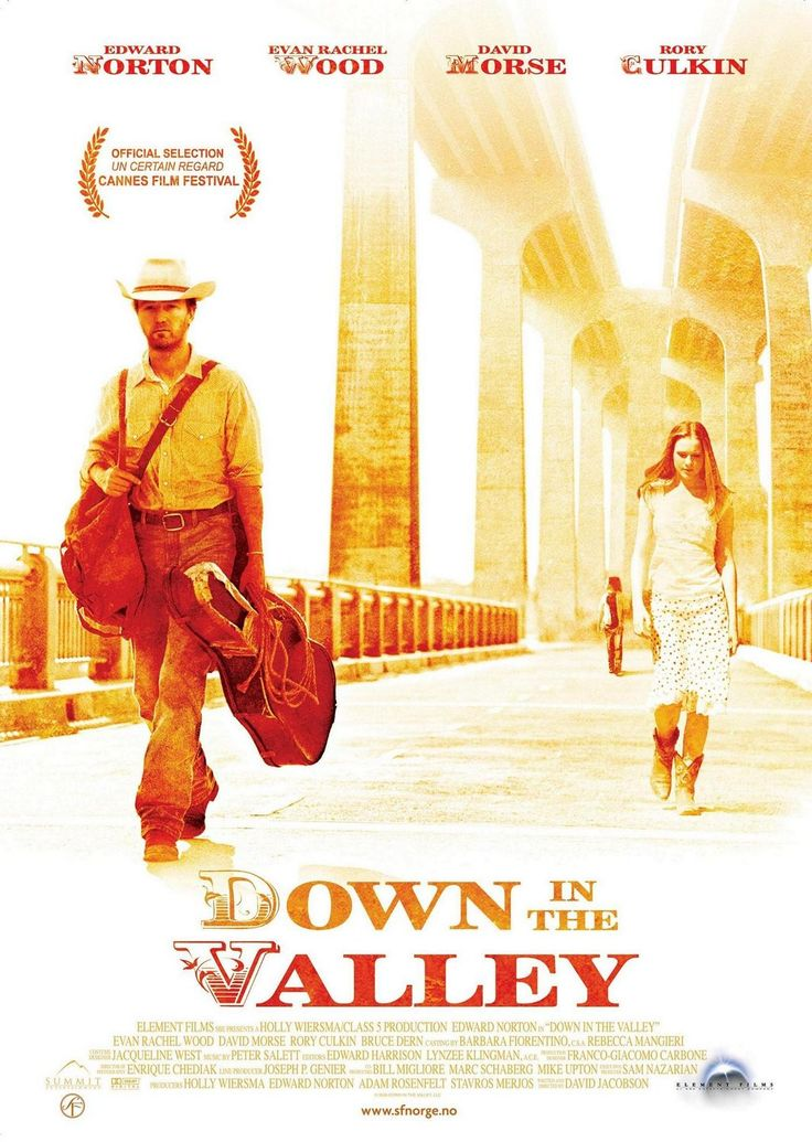 """Down in the Valley (2005) """"Harlan: I've tried living down in the valley again, really tried this time. Walked up and down it looking for one open face, but most people I've meet hardly seem like human beings to me anymore."""""""