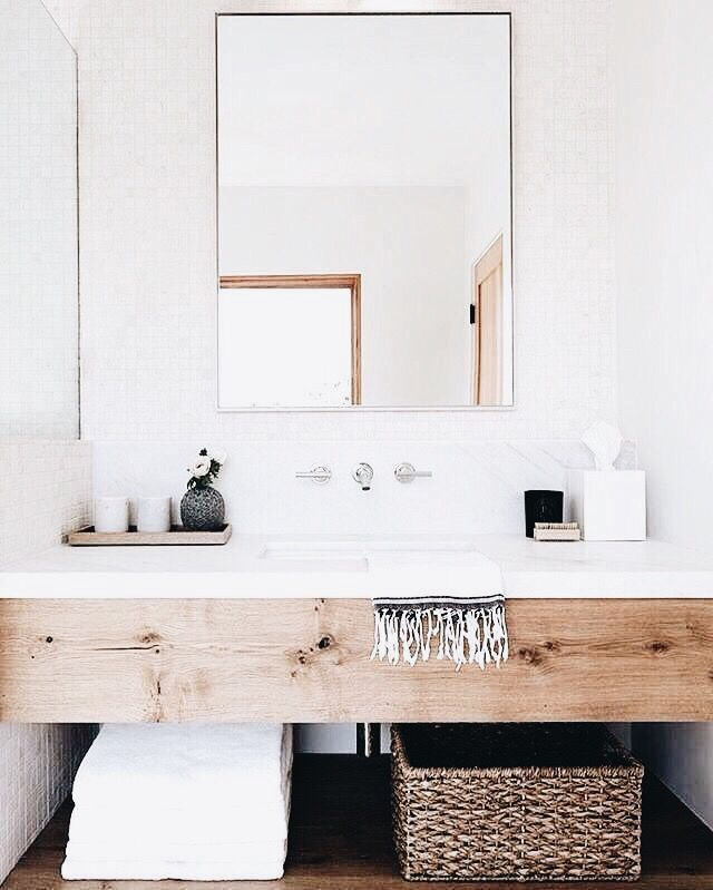 Clean Bathroom Bad Inspo Holz Korb Trend Skandi In 2020 Badezimmer Dekor Badezimmer Renovieren Kleines Bad Umbau