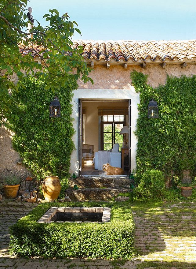 Country Cottage in Spain (once used as a rural schoolhouse) | interior designer Mikel Larrinaga