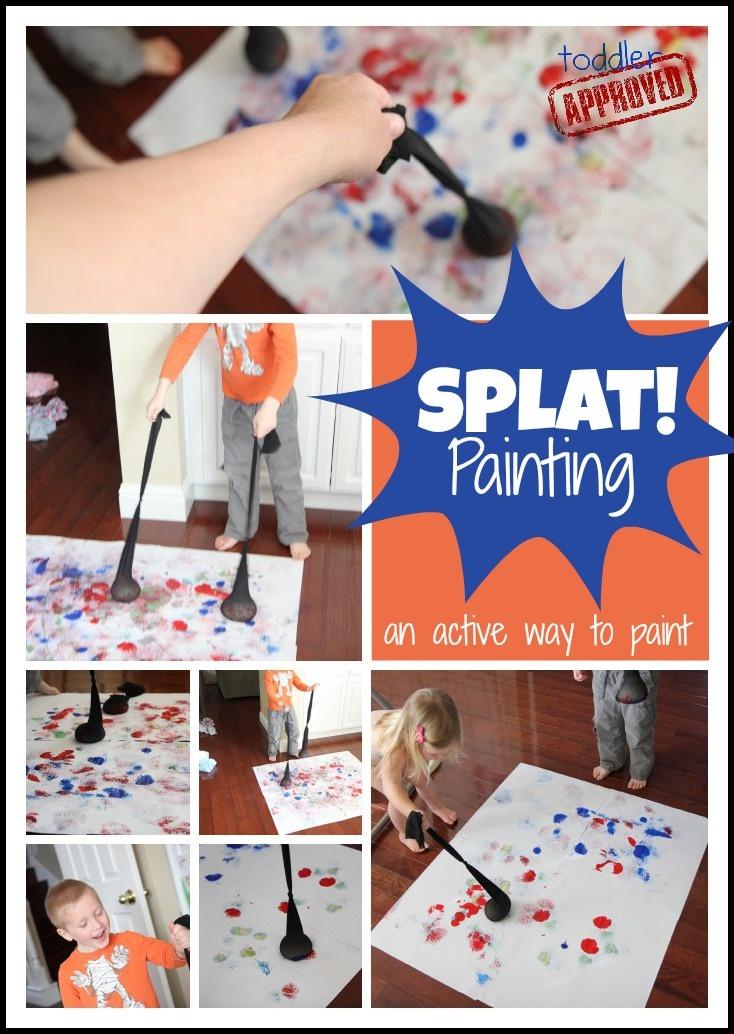 splat painting - Preschool Painting Games