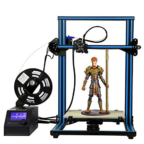 HICTOP Creality CR-10 3D Printer Prusa I3 DIY Kit Aluminum Large Print Size 300x300x400mm - Product Specifications: Extruder quantity: 1 Molding: FDM Body Structure: Imported V-Slot Aluminum Bearings Nozzle Diameter:Standard 0.4mm Printing Method: SD card(off-line), contact to the PC(online) LCD screen: 3 inch LCD screen with aircraft knob Power supply: input: 110-240V output: 12...