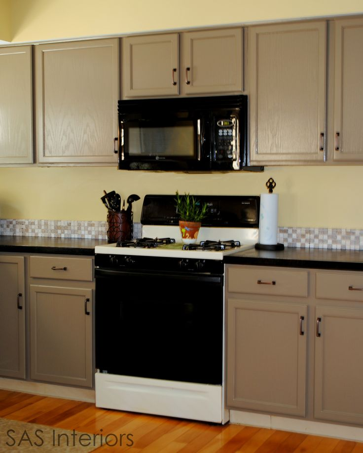 Black Kitchen Cabinets Paint Color: Tips For Re-painting Cabinets.