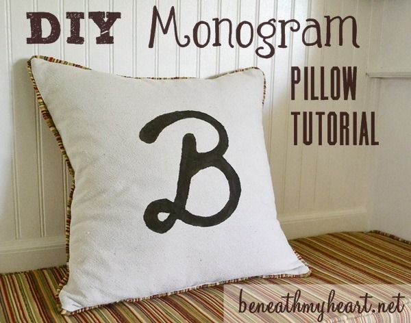 Monogram Pillow Tutorial