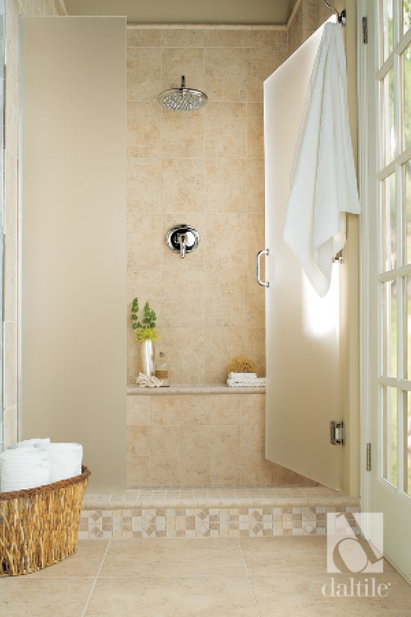 This Step Up Shower Features Our Classic Stone Look Brixton Tile
