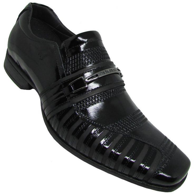 O Sapato Social Rafarillo Masculino, é confeccionado em couro natural com verniz e solado de borracha para maior durabilidade. Sapato de couro.