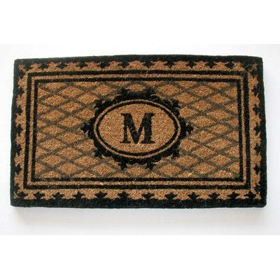 """Geo Crafts Creel Chateau Monogrammed Doormat Rug Size: 1'6"""" x 2'6"""", Letter: A"""