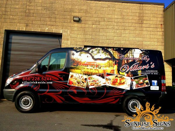 Villaris Lakeside Brands Catering Business With Mercedes Sprinter Van Wraps In South Jersey