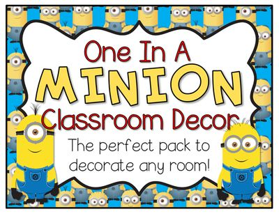 "Minion Classroom Decor Pack from Barnard Island on TeachersNotebook.com -  (54 pages)  - This is the perfect pack to make your classroom ""one in a minion!"" Includes name tags, schedule labels, job labels, supply labels, welcome banner, group signs, and an alphabet. Enjoy!"