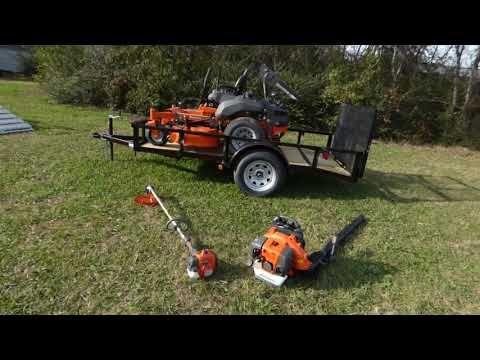 Husqvarna Pzt54 Mower Handhelds Utility Trailer Package Deal Utility Trailer Mower Package Deal