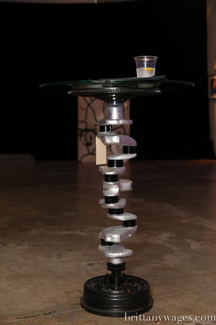 Black And Silver Crankshaft Side Table Things Made Out