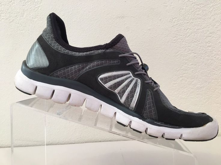 Fila Mens 11 Skele-toes Black Gray EZ Slide Barefoot Running Shoes 1PK14041-072 #FILA #BarefootMinimalist