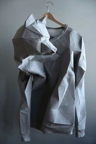 Beautiful sculpted wolf clothing