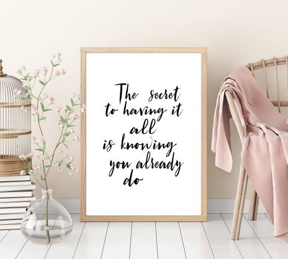 Law Of Attraction Wall Art Room Decor Positive Affirmations Inspiration Art Room Law Of Attraction Inspiration