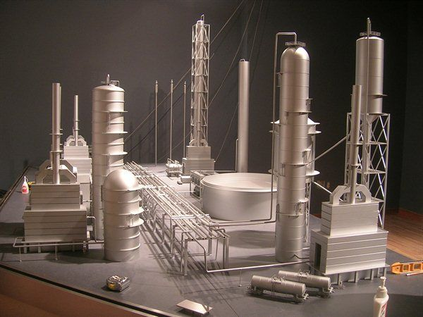 Oil Refinery Factory Model | Architectural Models | Model ...