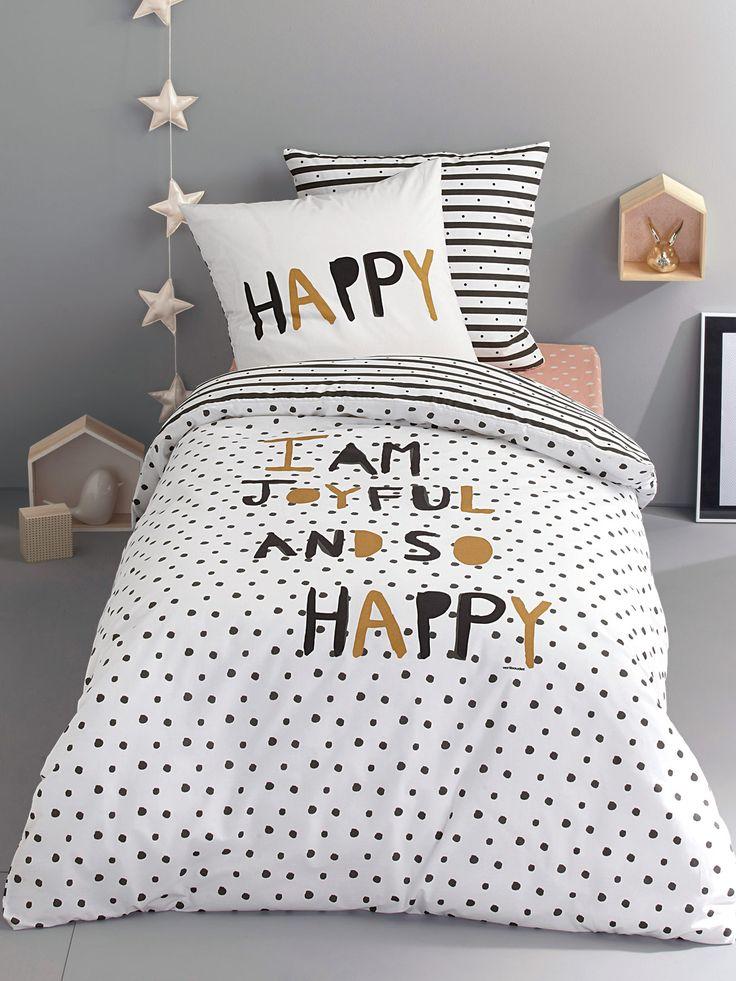 silhouette taie d 39 oreiller enfant happy night housse de couette enfant happy night drap. Black Bedroom Furniture Sets. Home Design Ideas