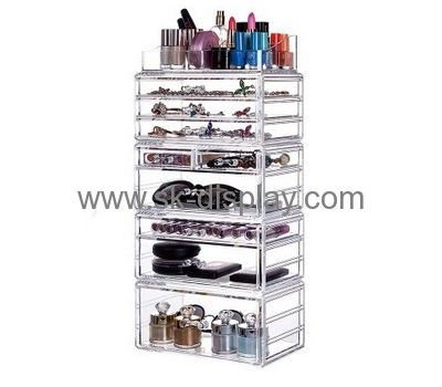 Custom acrylic cosmetic organizer countertop acrylic organizer makeup clear acrylic makeup organizer with drawers CO-260