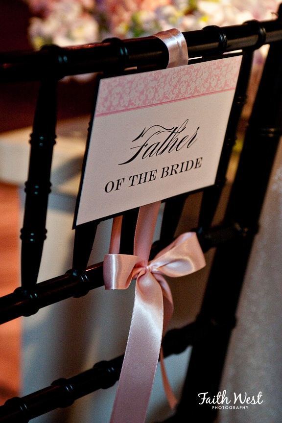 Wedding Reception Sign - Father of the Bride. Get these for the important people in your life.
