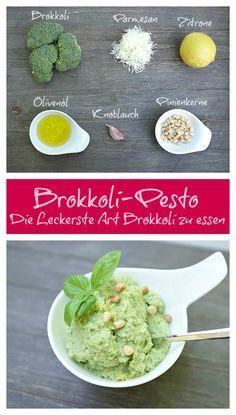 Brokkoli-Pesto - überzeugt sogar Gemüsemuffel - egal ob zu Pasta, Gnocchi oder als Beilage zu Fisch & Fleisch. Einfach lecker!