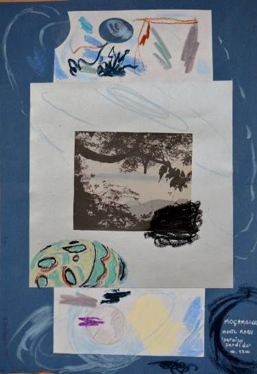 """Saatchi Art Artist mara montanari; Collage, """"The Virgin Forest Unknown"""" #art"""