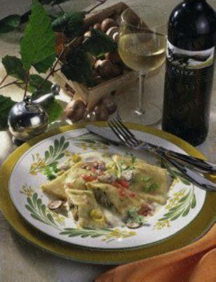 Kartoffel-Ravioli mit Porree-Pilz-Füllung Rezept