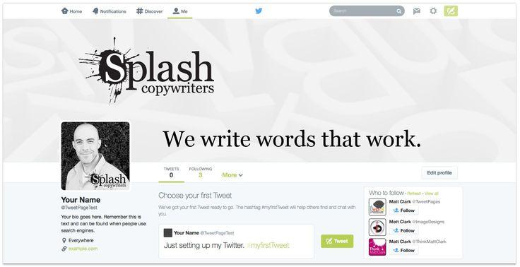 Splash Copywriters Twitter Design - by TweetPages.com #TweetPages