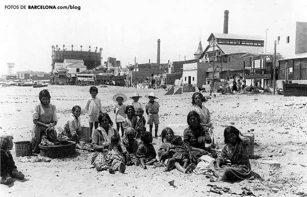 Niños en el barrio del Somorrostro