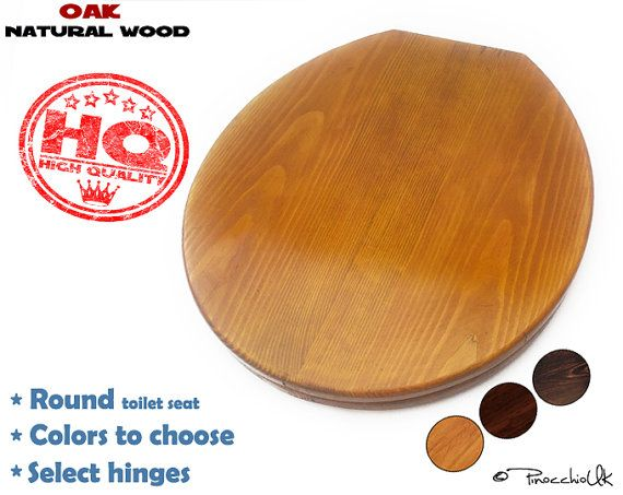 Round wooden toilet seat (3 colors to choose)    Wood toilet, Soft close, Rustic toilet seat for your bathroom