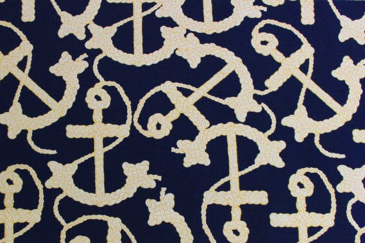 Close Up | Navy Anchor Print | Anchor Width: 6cm