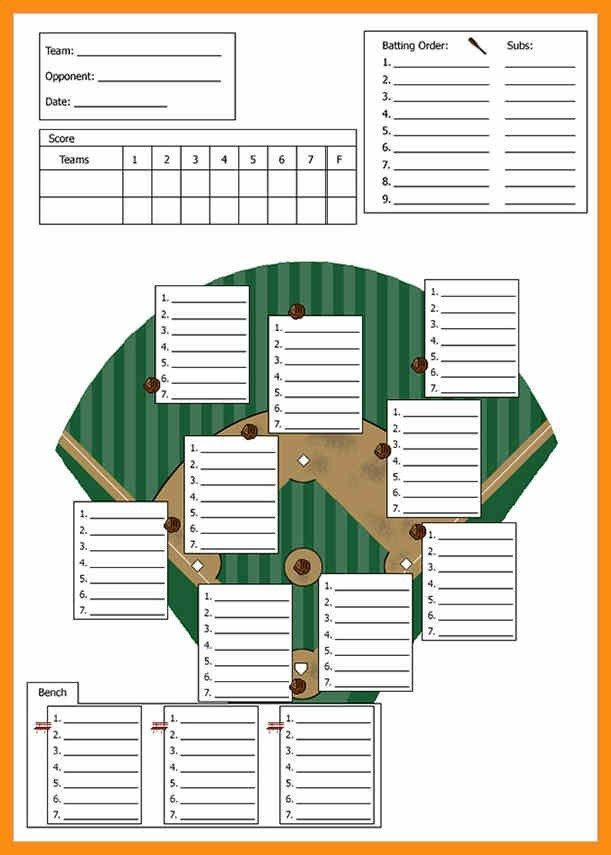 Baseball Lineup Card Template Free Download Baseball Lineup Team Mom Baseball Baseball Dugout