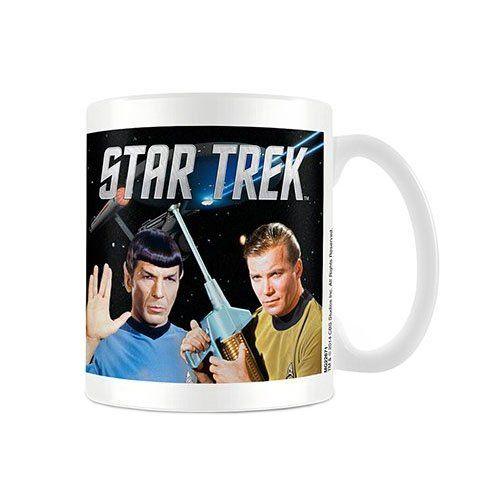 Official Retro Star Trek Kirk and Spock Character Coffee Mug - Boxed Star Trek, WE'LL ALWAYS HAVE MEMORIES OF LEONARD LIMOY,
