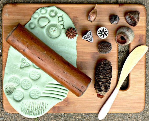 Natural Playdough tool kit by PlayfulByNature on Etsy
