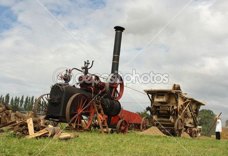 Vintage hasat sahne — Stok İmaj #2903214