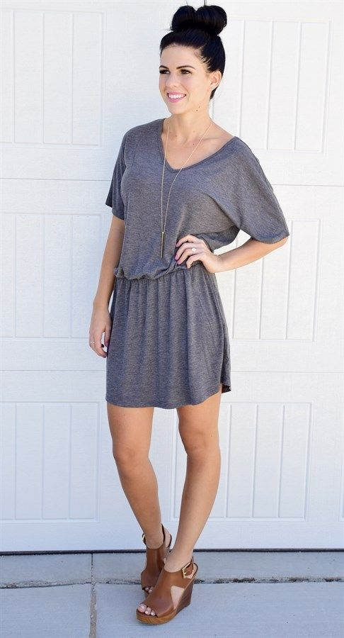 Women's Flowy V-Neck Dress!