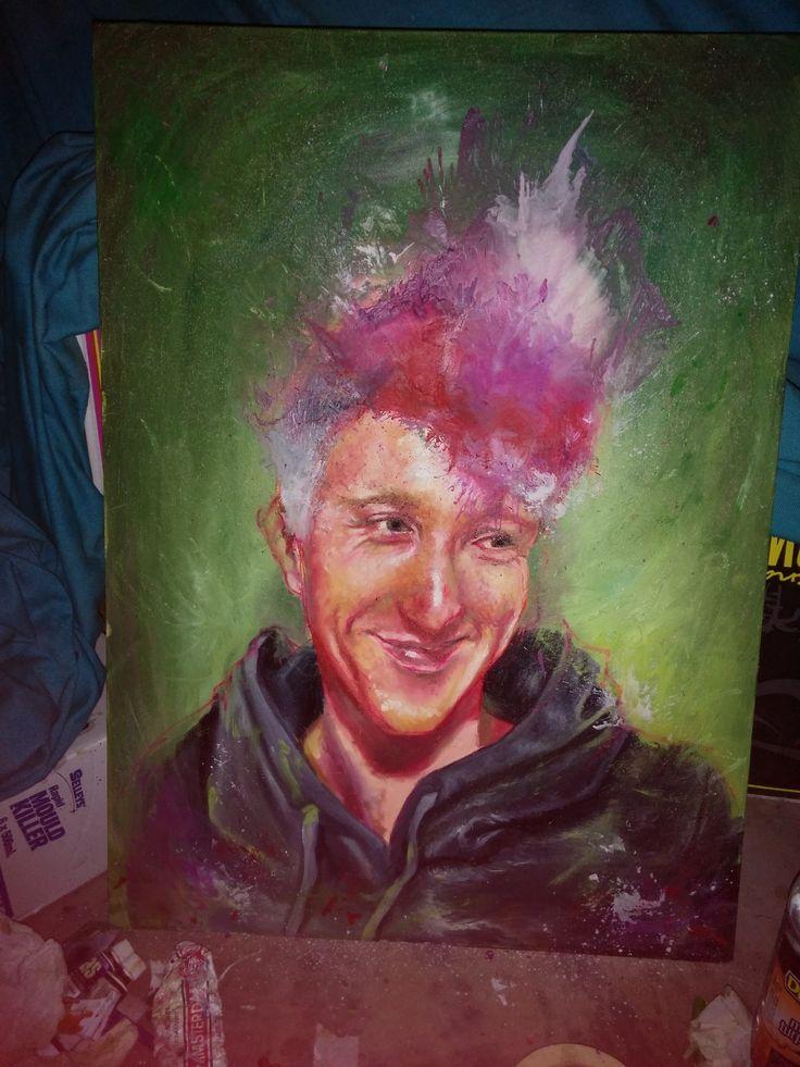 A painting of my dear friend Fnic.