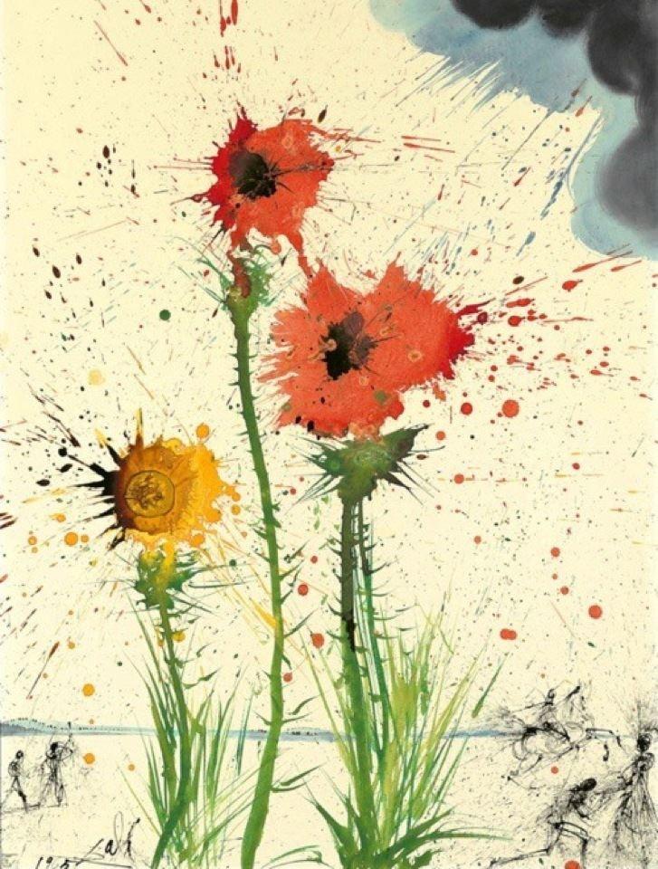splat. art.Salvador Dali, Artists, Inspiration, Salvador Dali Artworks, Dali Spring, Spring Explosions, Art Flower, Explo Hands, Painting