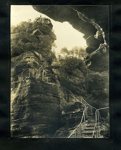 The Giant Stairway, Katoomba    From an album of Harry Phillips photos                                              From an album of Harry Phillips  photos