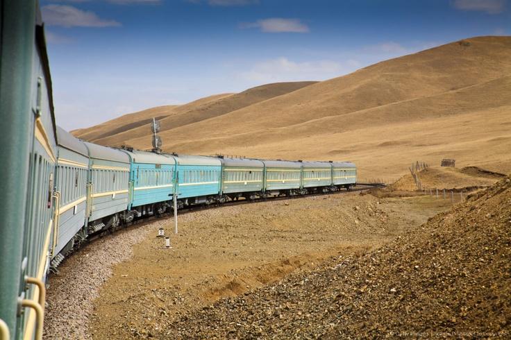 Mongolia, Ulaanbaatar, Trans Mongoian railway - approaching Ulaanbaatar