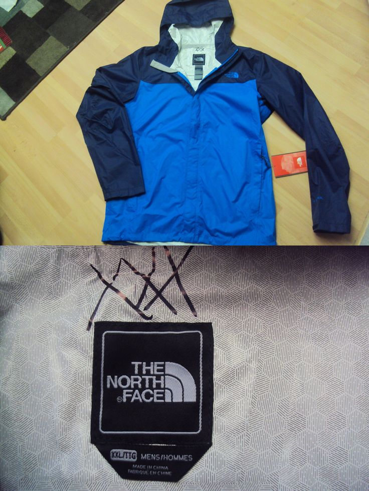 Coats and Jackets 181372: Nwt Mens The North Face Drummer Blue Sz Xl / Tall L Venture Jacket Hyvent 2.5L BUY IT NOW ONLY: $62.99