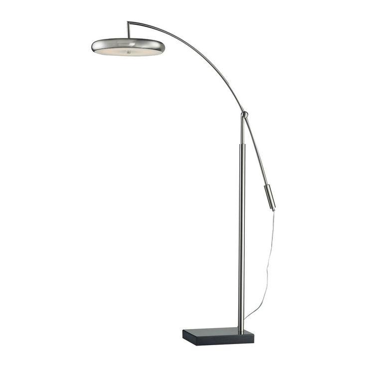 79 best modern floor lamps images on pinterest flooring floors dimond lighting modern led arc floor lamp in brushed steel d2901 aloadofball Gallery
