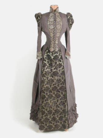 Silk and taffeta dress, 1890, Killerton Fashion Collection © National Trust.