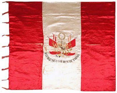 Estandarte del Batallón de la Guardia Nacional de Tarma capturado en la Guerra del Pacífico.