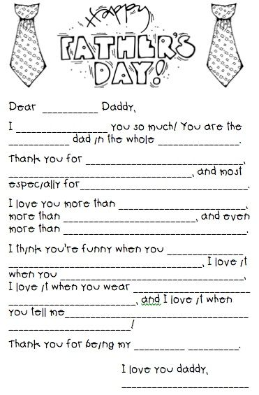 FATHERS DAY:  Fill in the | http://giftsforyourbeloved.blogspot.com