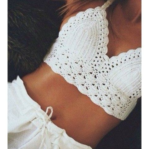 Sexy Hand-woven Crochet Crop Top - Oh Yours Fashion - 4