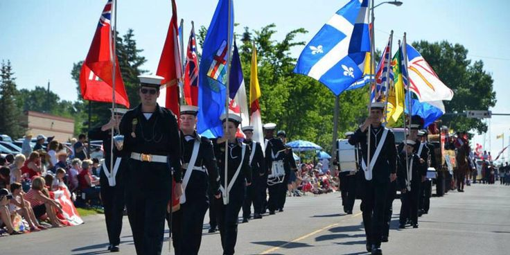 Cadets aged 12-18 participate in citizenship activities such as this Canada Day parade. To find out how to join, visit us at www.rcscccalgary.ca.