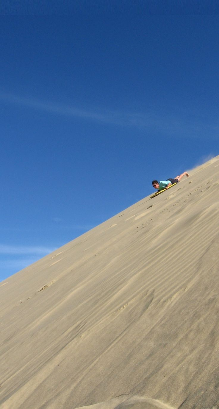 Sandboarding in Te Paki – well, most tourist would have to hire a board so not quite free but cheap anyway - Northland NZ