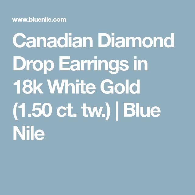 Canadian Diamond Drop Earrings in 18k White Gold (1.50 ct. tw.) | Blue Nile